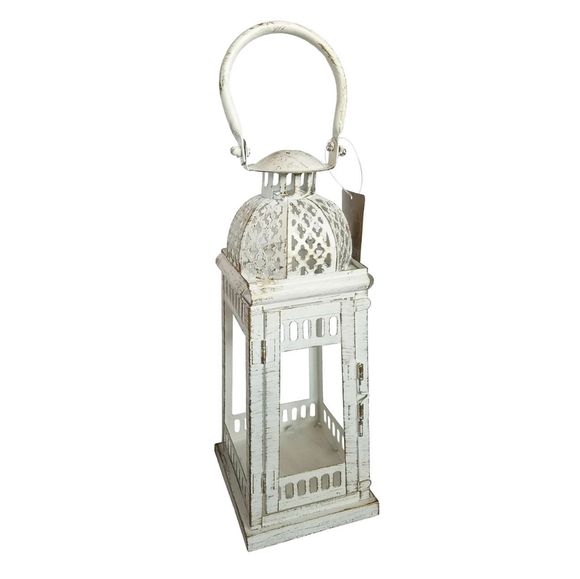 Gallery of Light Other - 🆕Moroccan Inspirational White Distressed Lantern